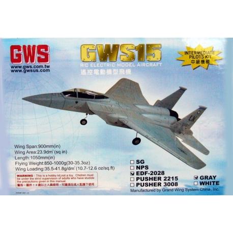 AEREO RADIOCOMANDATO JET GWS-15 EDF-2028 + 2 MOTORI