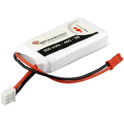 BATTERIA LIPO BRAINERGY YUKI MODEL 2S 600 MAH